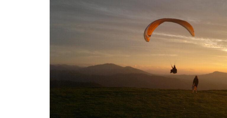 Partenza volo in parapendio a Cà del Monte